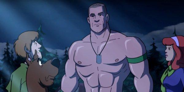 Shaggy, Scooby-Doo, and Daphne meet John Cena