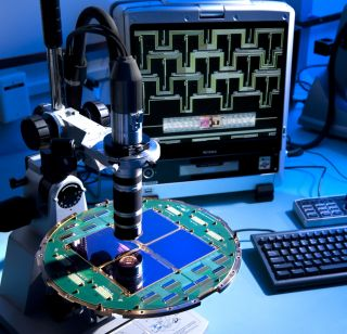 Superconducting Detectors for Study of Infant Universe