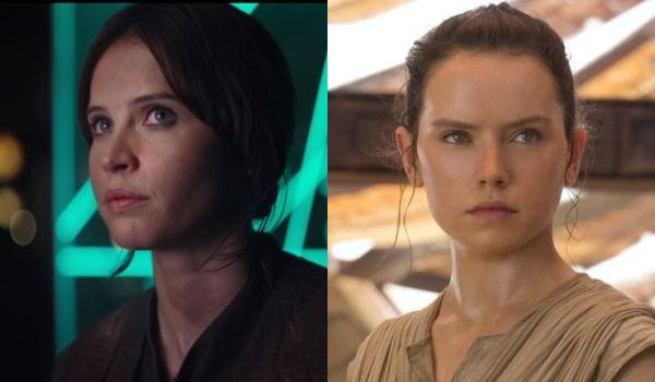 jyn erso star wars rogue one and rey star wars the force awakens