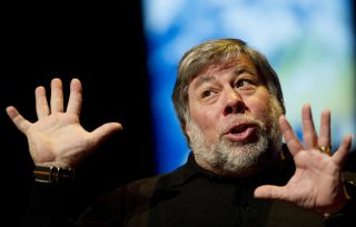 Apple computer company founder Steve Wozniak speaks at the Congress Meet the Future, Science & Technology Summit 2010 at the World Forum in The Hague on November 18, 2010.