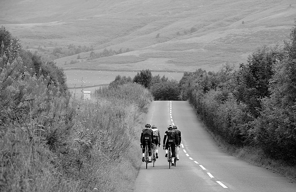 Edale Valley, Rapha Condor Sharp training in Peak District, August 2011