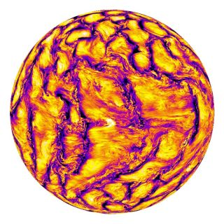Simulation of Sun Plasma Movement