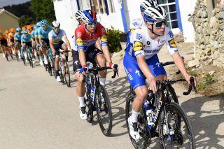 Remco Evenepoel leads his Deceuninck-QuickStep teammates at the 2020 Volta ao Algarve