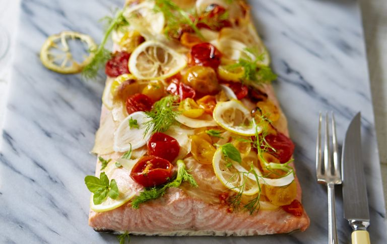 Oven roasted salmon