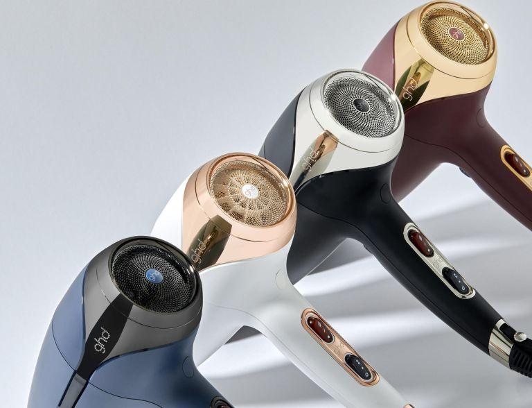GHD Helios hair dryers in various colours