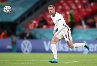 Jordan Henderson came off the bench during England's Euro 2020 semi-final win over Denmark.