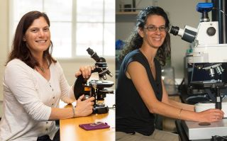 MacArthur Fellows and biologists Victoria Orphan (left) and Dianne Newman (right).