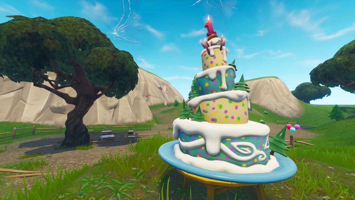 All 10 Fortnite birthday cake locations - dance in front ...