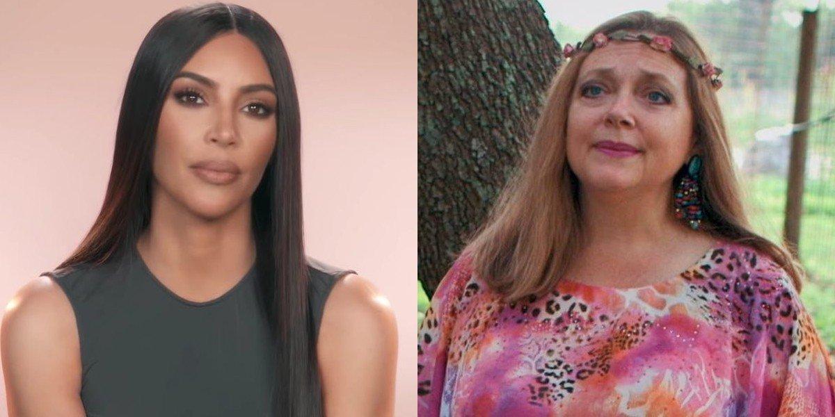 Kim Kardashian and Carole Baskin