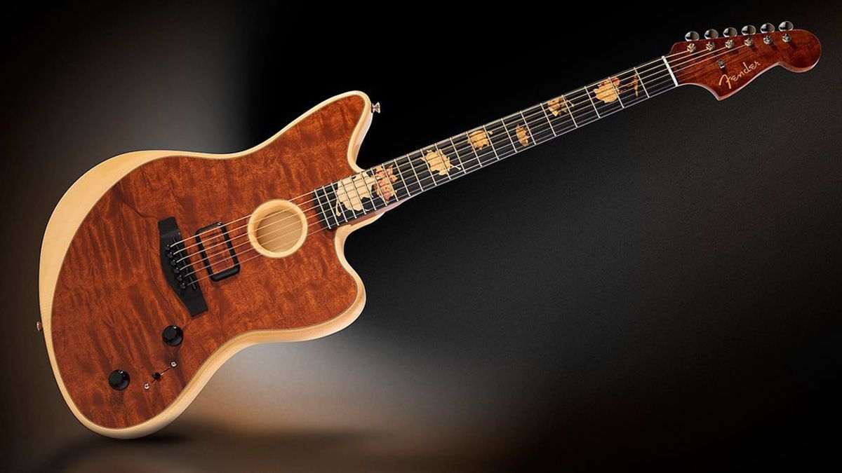 Fender Master Builder Ron Thorn has made a stunning Offset Acoustasonic from the the most exotic tonewoods