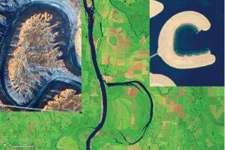 satellite images of alphabet