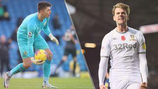 Burnley vs Leeds United live stream — Nick Pope of Burnley and Patrick Bamford of Leeds United