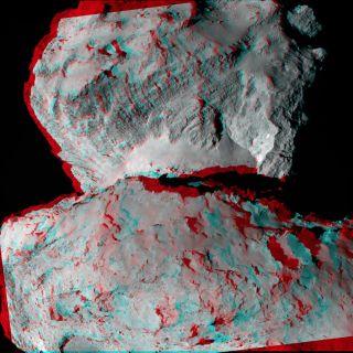 Rosetta's Comet in 3D