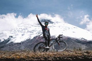 Richard Carapaz (Ineos Grenadiers) Cotopaxi Volcano training