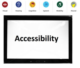 "Illustration: ""Accessibility"" on computer screen"