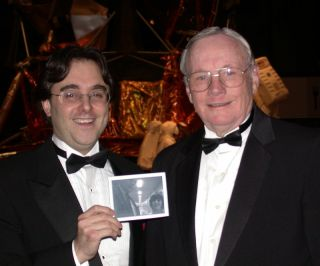 Andrew Chaikin with Neil Armstrong