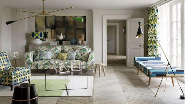 A Mid-century living room