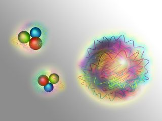 nucleons and gluons