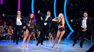The pros perform a group number on Dancing With the Stars