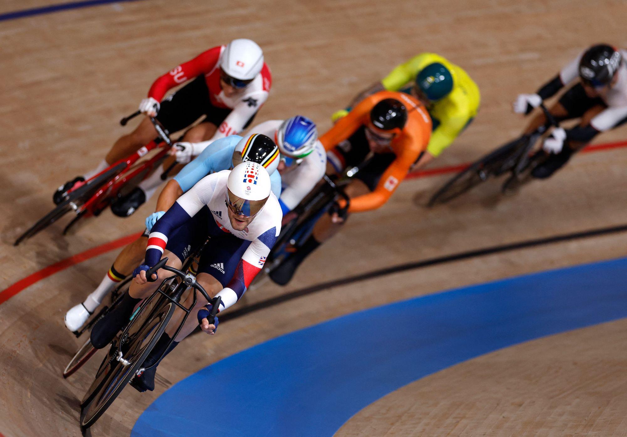 Matt Walls in the Tokyo 2020 Olympic Games omnium