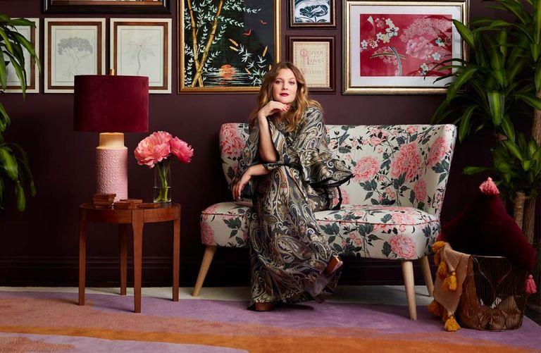 Drew Barrymore celebrity home decor brands