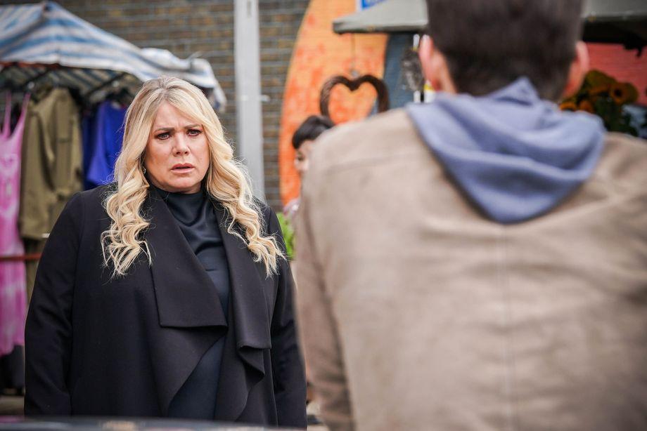 Sharon Beale sees Zack Hudson in EastEnders