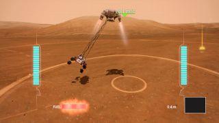 mars rover landing game screenshot