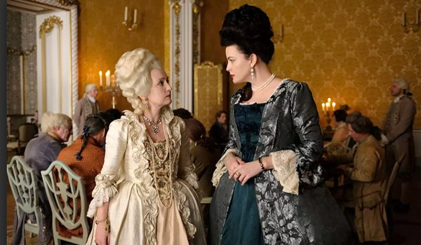 Lesley Manville and Liv Tyler on Harlots