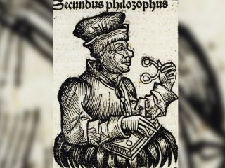 Here, incunabula shown in the first printed representation of a pair of spectacles, in Germany in the 15th century.