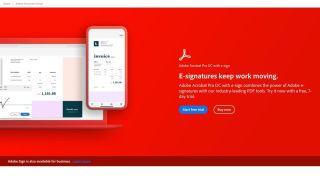 Adobe Sign Website