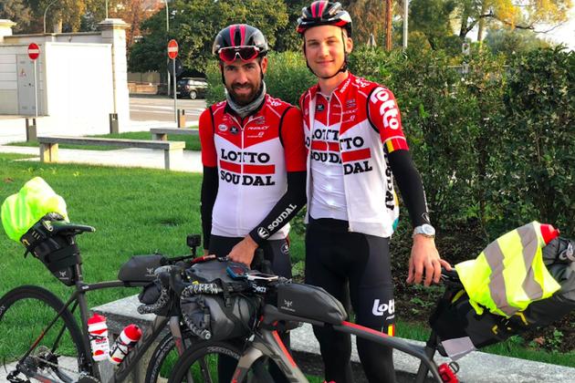 2ca905d72 Thomas De Gendt and team-mate Tim Wellens on  The Final Breakaway  trip  (Picture  Twitter  Thomas De Gendt)