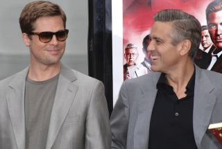 Brad Pitt and George Clooney in 2007