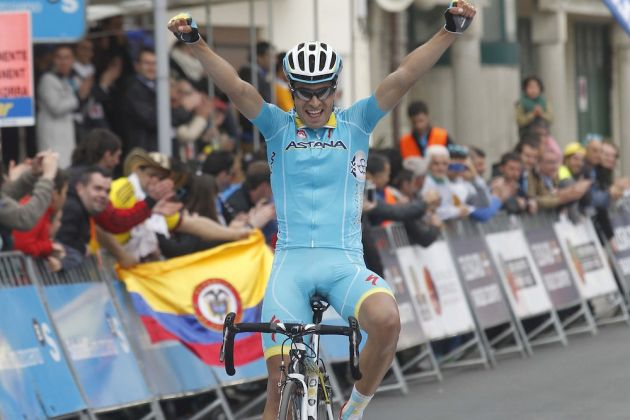 Mikel Landa wins stage five of the 2015 Tour of the Basque Country