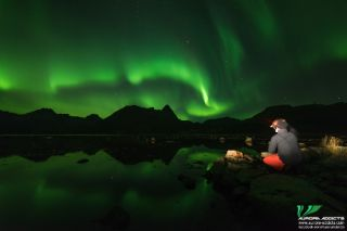 "This gorgeous photo was taken in Norway on Oct. 26 by Chris, one of the ""<a href=""https://www.aurora-addicts.com/northern-lights-holidays"">Aurora Addicts</a>."" The ""addicts"" run a company that offers trips to see the northern lights and other sights in A"