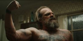The Black Widow Scene David Harbour Enhanced By Improvising About Santa Claus