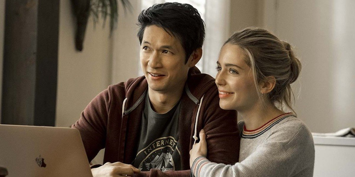 Harry Shum Jr and Jessica Rothe in All My Life