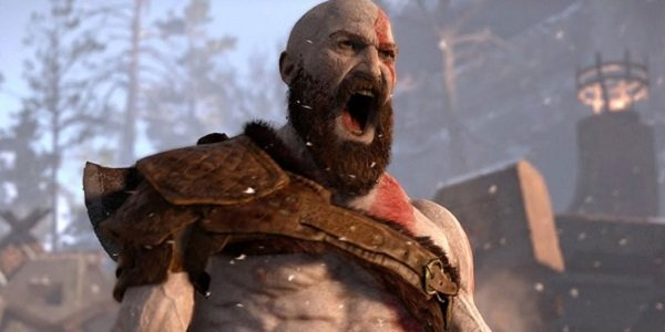 Kratos yelling in God of War.