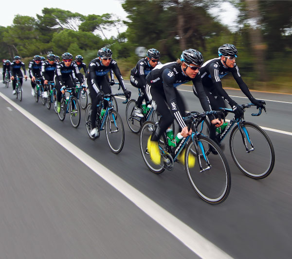 Team Sky on camp