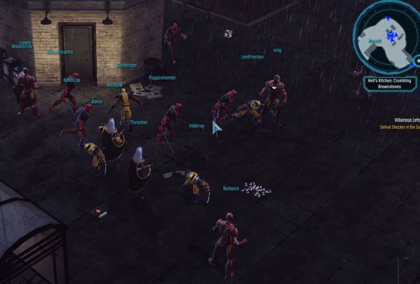 A collection of Wolverines, Deadpools, Storms, and Iron Men playing Marvel Heroes