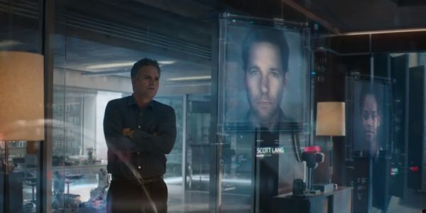 Bruce banner looking at Ant-Man's picture