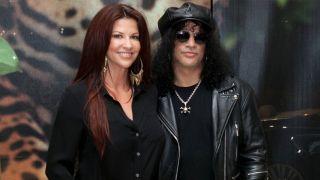 Perla Ferrar and Slash in 2012