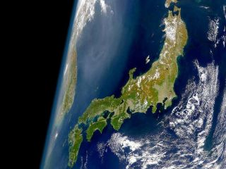satellite image of Japan