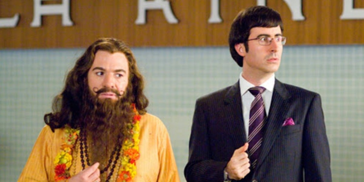 Mike Myers and John Oliver in The Love Guru