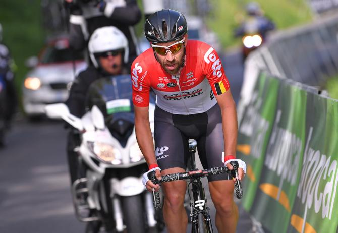 Thomas De Gendt rides to victory during stage 2 at Tour de Romandie