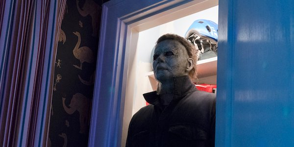 Michael in the closet in Blumhouse's Halloween