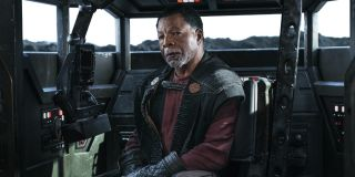 Greef Karga (Carl Weathers) sits in a cockpit on The Mandalorian (2020)