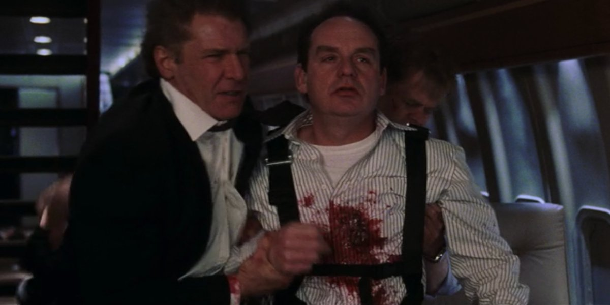 Harrison Ford and Paul Guilfoyle in Air Force One