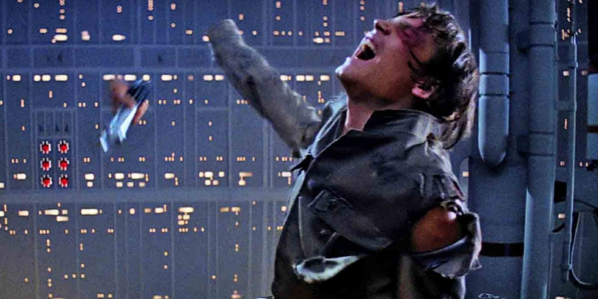Luke Skywalker loses his hand in The Empire Strikes Back.