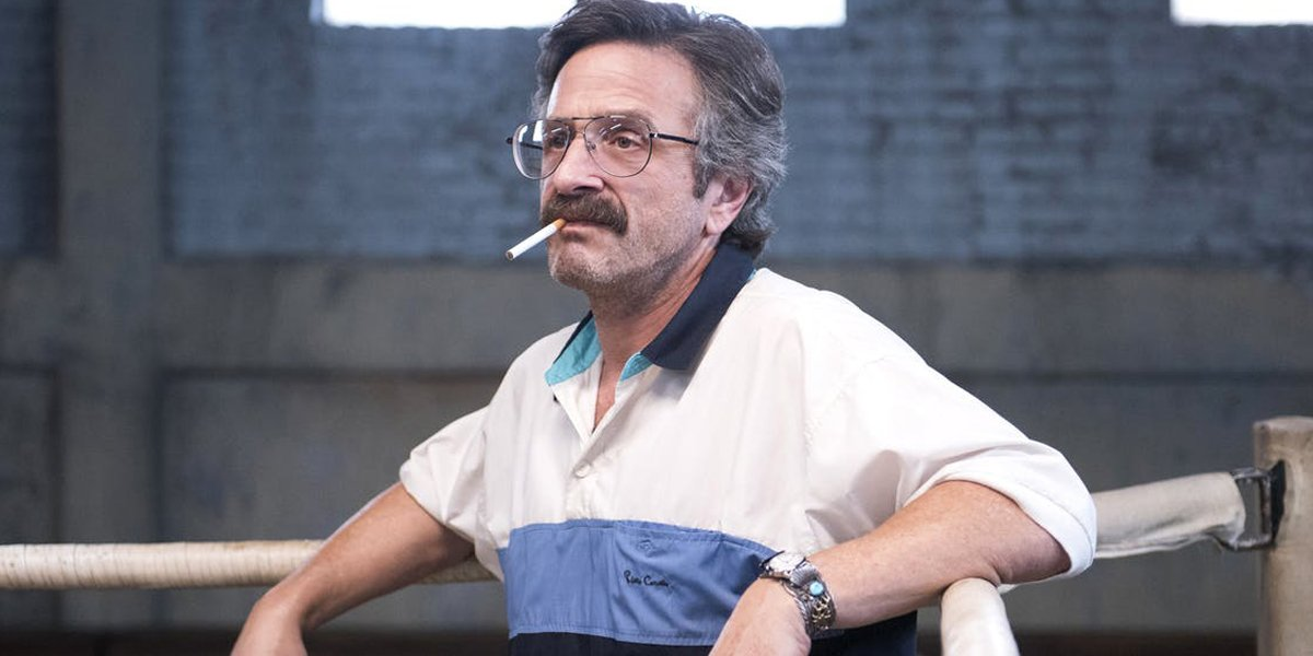 Marc Maron with a cigarette in his mouth GLOW Netflix