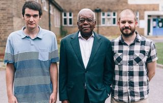Trevor McDonald and the Killer Nurse - Pictured: Trevor McDonald (centre) with Michael Davidson (left) and Bradley Gibson (right) who escaped Allitt's clutches as babies